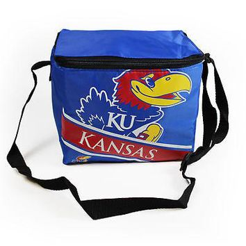 Licensed Kansas Jayhawks Official NCAA Cooler 6 Pack Ice Box Bag by Forever Collectibles KO_19_1
