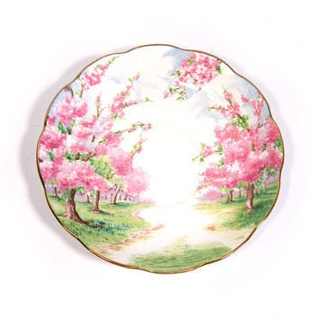 Vintage Royal Albert Blossom Time Chintz Saucer, Bone China, England