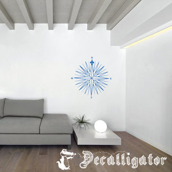 Wall Decal - Vintage/Retro Compass - Cool Vinyl Mural for Home Decor [027]