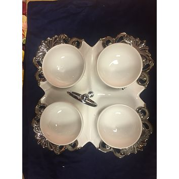 Fancy serving try with bowls
