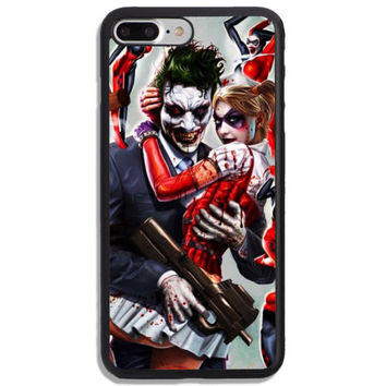 Harley Quinn And Joker New Art Hard Cover Phone Case Protector For iPhone