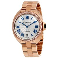 Cartier Cle Flinque Sunray Effect Dial 40mm Watch WJCL0009