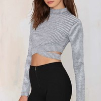 Nasty Gal Cut Above Crop Top