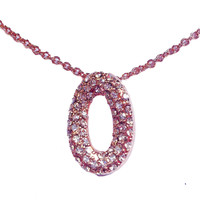 "Rose Gold Oval ""O"" Necklace"