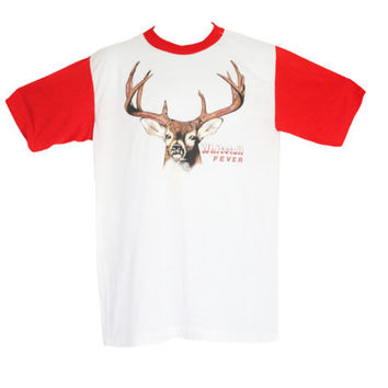 Vintage 70s Whitetail Fever Tee T-Shirt | Super Soft, Thin, Worn in Baseball Tshirt 1970s, Deer, Hunter Hunting Gift