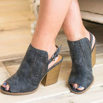 Barnes Grey Open Bootie