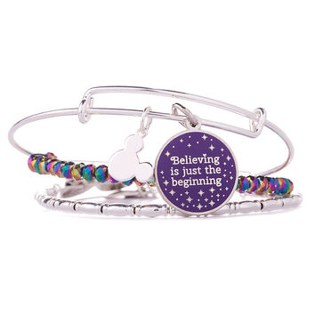 Tinker Bell ''Believing is just the beginning'' Bangle Set by Alex and Ani | Disney Store
