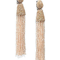 Oscar de la Renta - Long Beaded Tassel Clip-On Earrings - Saks Fifth Avenue Mobile