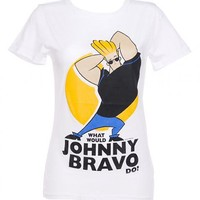 Ladies What Would Johnny Bravo Do T-Shirt From Too Late To Dye Young : TruffleShuffle.com