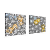Ankan 'Geometric Figures Set' Canvas Art Set