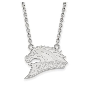 NCAA Sterling Silver Western Michigan U Large Pendant Necklace