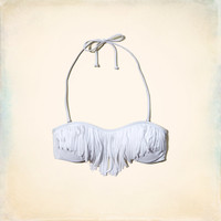 Fringe Bandeau Swim Top