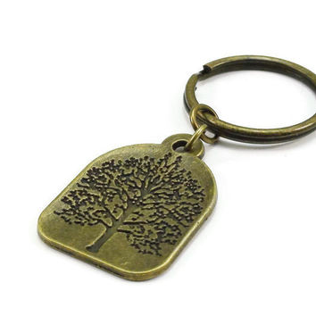 Bronze Tree of Life Keychain