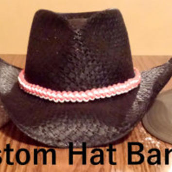 Custom Hat Band - Custom Paracord Hat Band - 550 Paracord - Hat Accessories - Customized Gifts - Gifts Ideas for Dad- Christmas Gift for HIm