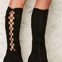 Nasty Gal Side Story Lace-Up Boot