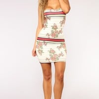 Giulia Floral Dress - Ivory Multi