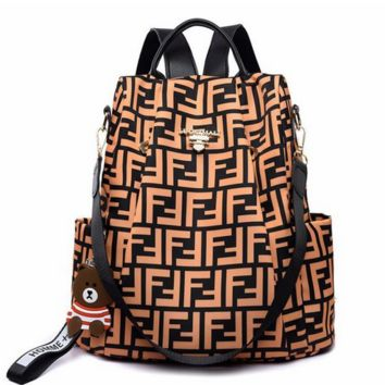 FENDI Women Men Travel Shoulder Bag Bookbag School Bag Backpack