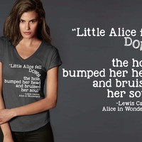 Little Alice Fell Down the Hole T-shirt | Alice In Wonderland