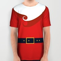 Santa All Over Print Shirt by Sara Eshak | Society6