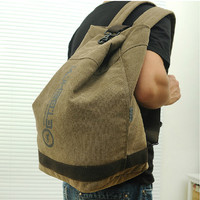Portable canvas bag / Simple essential travel / handbag / stay away travel / light clothes, bags / backpacks