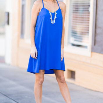 Stole My Heart Dress, Cobalt