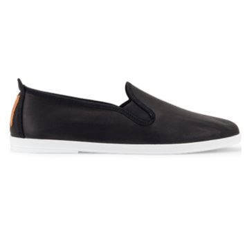 Flossy Shoes Flossy - Madrid Black Leather » West Of Camden