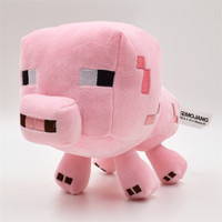 1PC Retail Minecraft Pig Stuffed Animals Toys 7 Styles 13-25CM Squid Creeper JJ Enderman Ocelot cat Mooshroom Sheep Kids Toys Christmas Gift