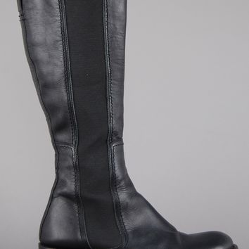 JFK Knee High Leather Chelsea Boots