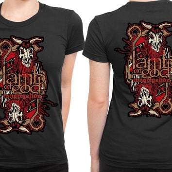 Lamb Of God Congregation Twinkle Monster 2 Sided Womens T Shirt