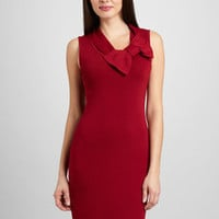 ideeli | ADRIENNE VITTADINI Paige Bow Collar Sheath Dress