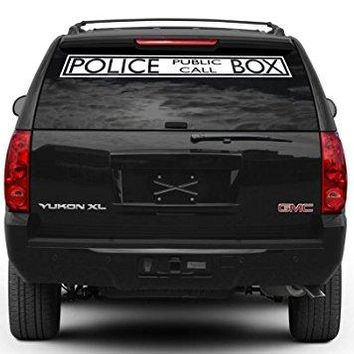 Dr. Who Inspired Police Box Decal Sticker