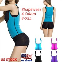 Women Neoprene Push Up Vest Sweat Waist Trainer Hot Body Shaper Cincher Corset