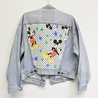 90's Mickey Reworked Denim Jacket