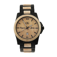 Stainless Steel & Maple Wood Watch