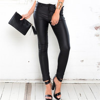 Black Autumn Stylish Slim Pants [9430871620]