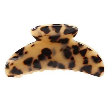 ESBONHC 10cm long Hot Sale High Quality Fashion Leopard Print Cellulose Acetate Hair Claw Clips women big size hair accessory clip