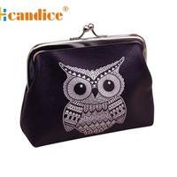 Women's Wallets pouch Cute owl PU mini Card Holder Coin Purses