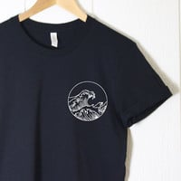 The Great Wave Shirt in Black | Summer Shirt | Funny Shirt | Sea Shirt | Tumblr Shirt | Cute Shirt | Graphics Shirt | Ocean Wave Surf Surfer