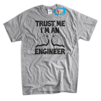 I'm An Engineer Engineering School University Work Gifts for Dad Guys Girls Screen Printed T-Shirt Mens Ladies Womens Youth Kids Funny Geek
