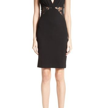 Roberto Cavalli Lace Inset Punto Milano Dress | Nordstrom
