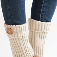 Cuff Me Crazy Beige Button Boot Cuffs