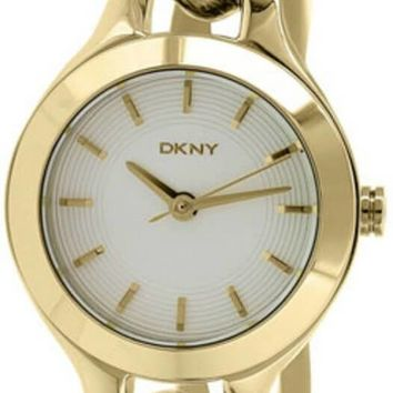 DKNY Chambers White Pearlized Dial Gold-toned Women's Watch NY2213