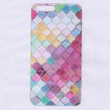 Fashion Silica gel soft shell colorful flash 6/6plus iphone 7 phone case