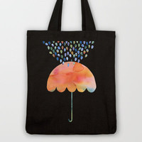 Rainbow Umbrella Tote Bag by Kanika Mathur | Society6