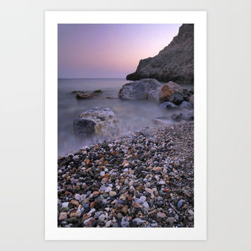 Little stones at sunset Art Print by Guido Montañés