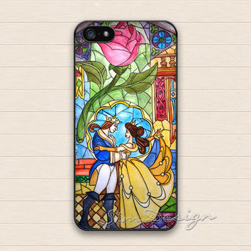 Beauty and the Beast iPhone 5 Case,iPhone 5s Case,iPhone 4 4s Case,Samsung Galaxy S3 S4 Case,Flower Floral Rose Hard Rubber Cover Skin Case