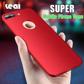 Luxury Hard Matte Cases For iPhone 6 Case X 5s 5 SE 6s 6 Plus For iPhone 7 Case Plus Back Cover Plastic Protective Phone Cover