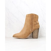 very volatile - preston boots - tan suede booties