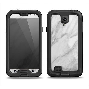 The White Marble Surface Samsung Galaxy S4 LifeProof Nuud Case Skin Set