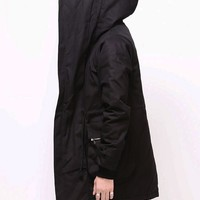 Mens Vandalique Big Hooded Zip Field Jacket at Fabrixquare